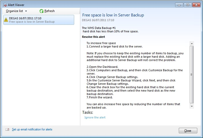 Server Backups in Windows Home Server 2011 | Geoff Coupe's Blog
