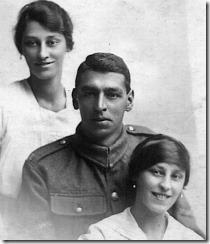 G Aunts Corra & Annie, G uncle George Johnson circa 1915